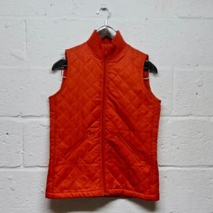 Lilly Pulitizer Red Diamond Quilted Full Zip Vest